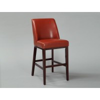 Red Leather Barstool