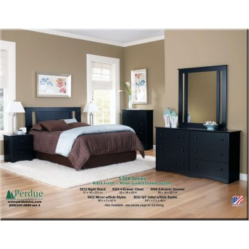 Solid Black Master Bedroom
