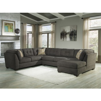 Delta City - Steel  3 Pc. RAF Chaise Sectional