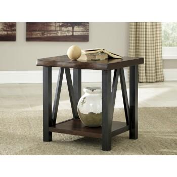 Esmarina - Walnut Brown - Rectangular End Table