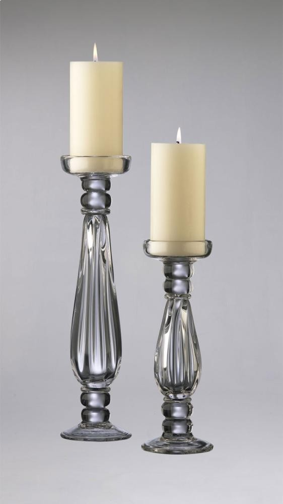 Small Clear Glass Candleholder Clear Glass
