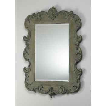 Vintage French Mirror Oyster Silver