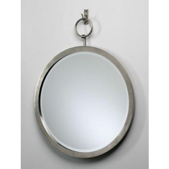 Round Hanging Mirror Polished Chrome