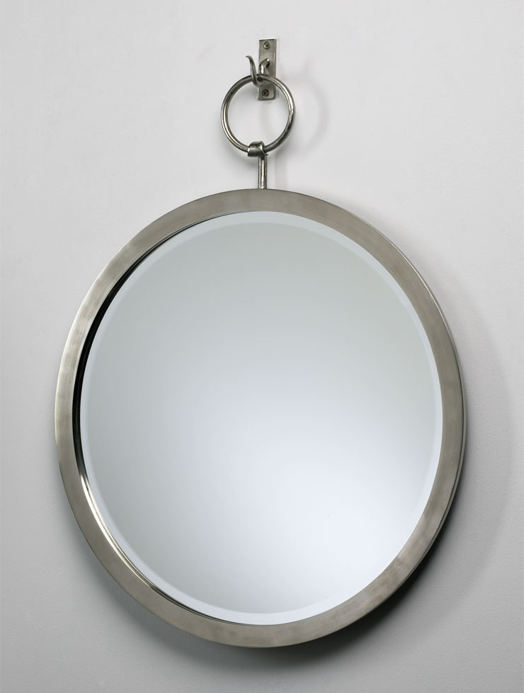 Round Hanging Mirror Polished Chrome