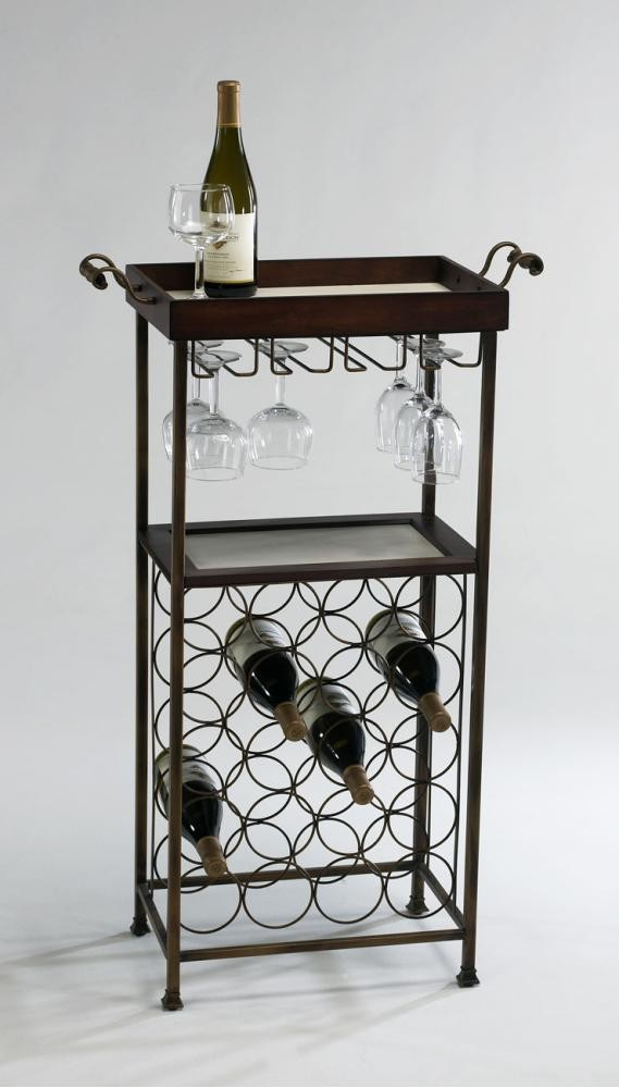 New York Wine Stand Mahogany and Copper