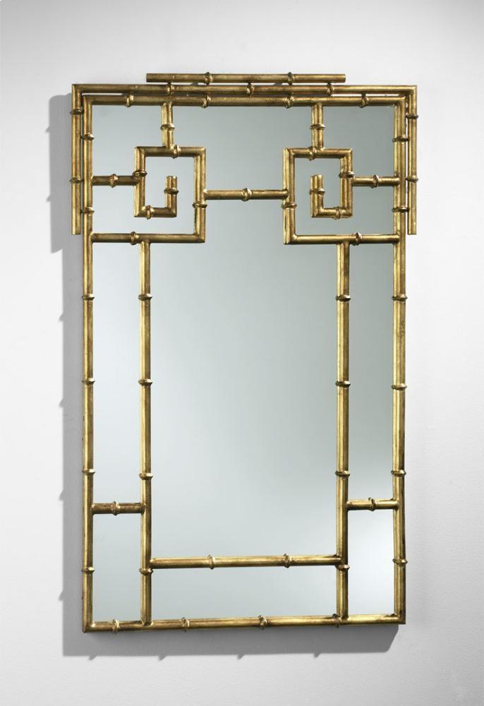 gold bamboo mirror. Bamboo Mirror Gold I