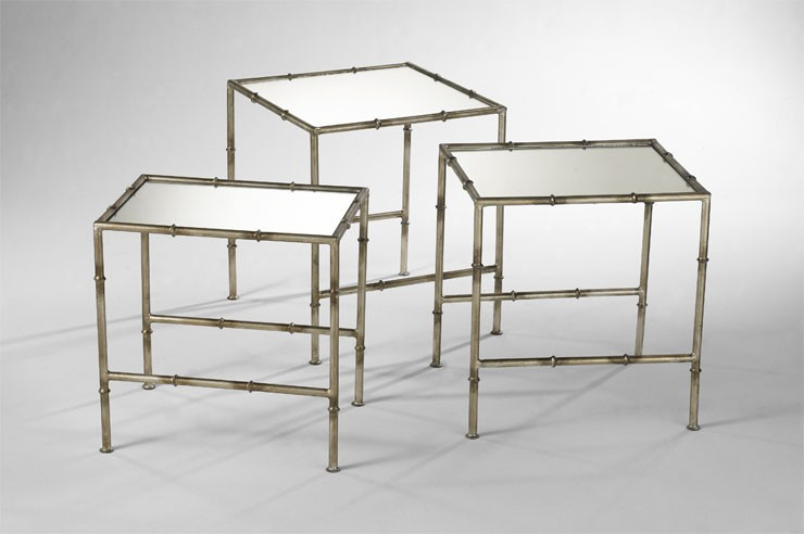 Bamboo Nesting Tables Bronze