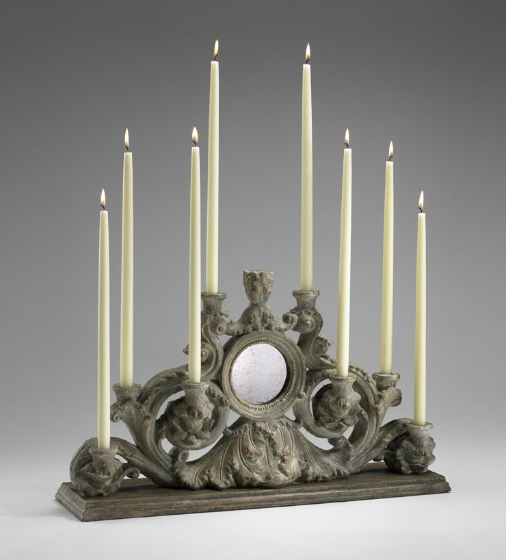 European Candleholder Washed Ash