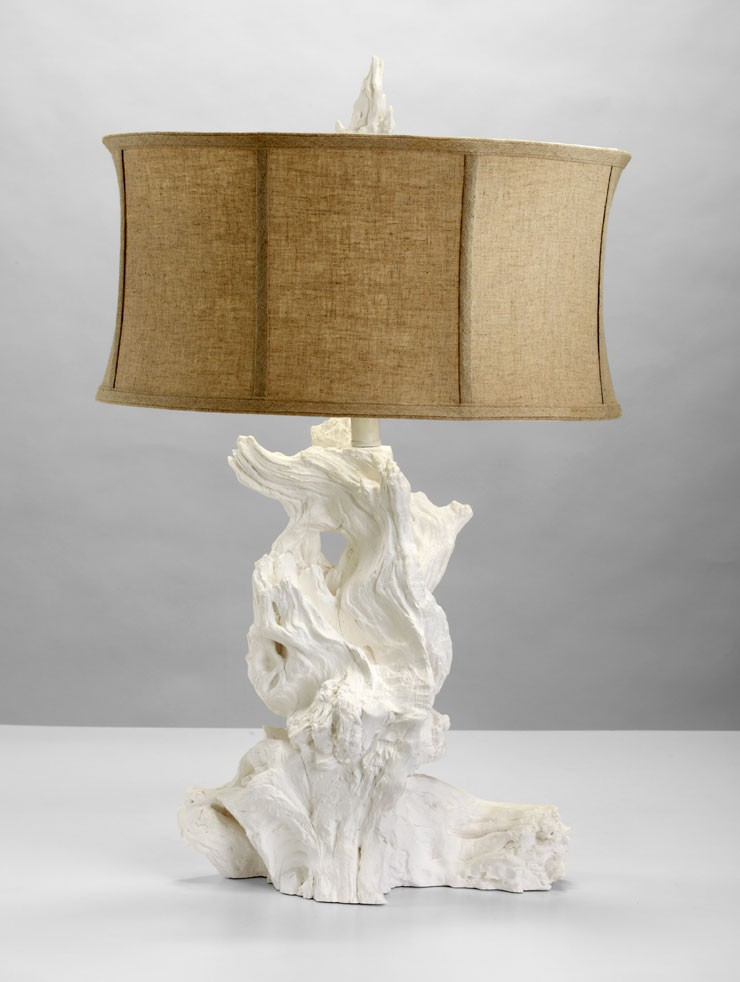 Driftwood Table Lamp White