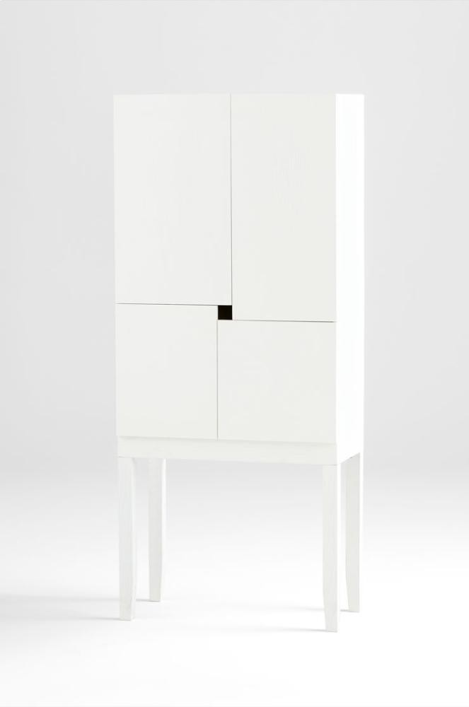 The Hideout Bar Cabinet White Veneer