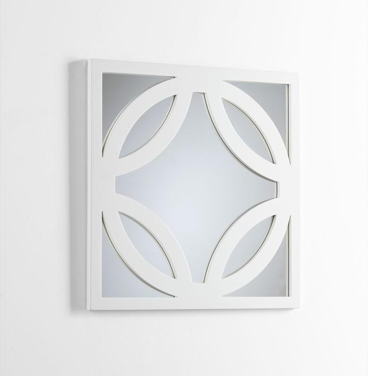 Brodax Mirror White Lacquer