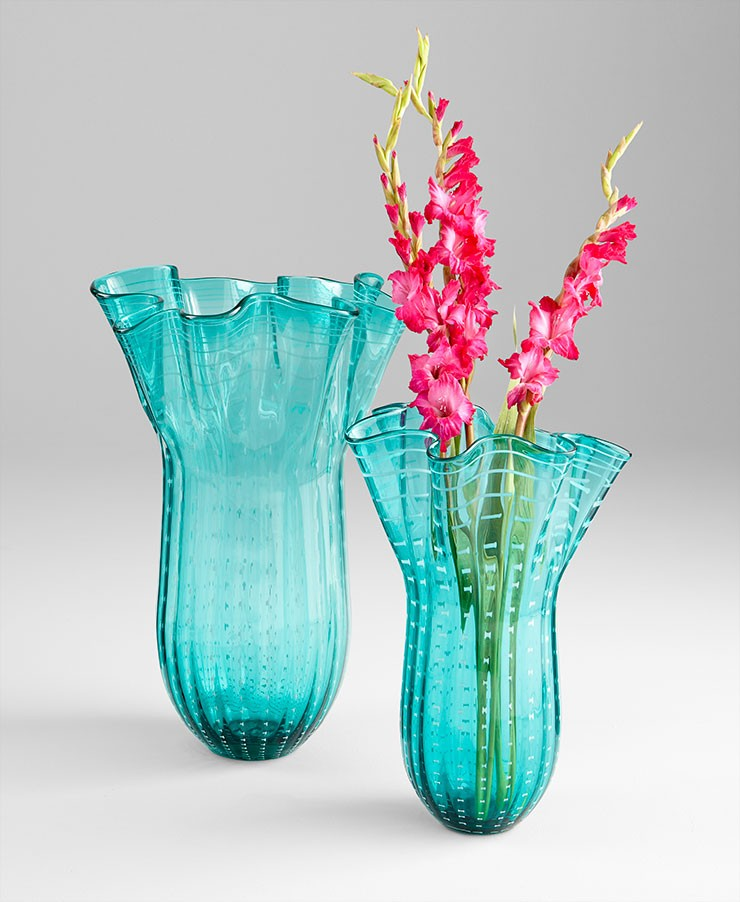 Large Under The Sea Vase Blue Accessory Item At Hom