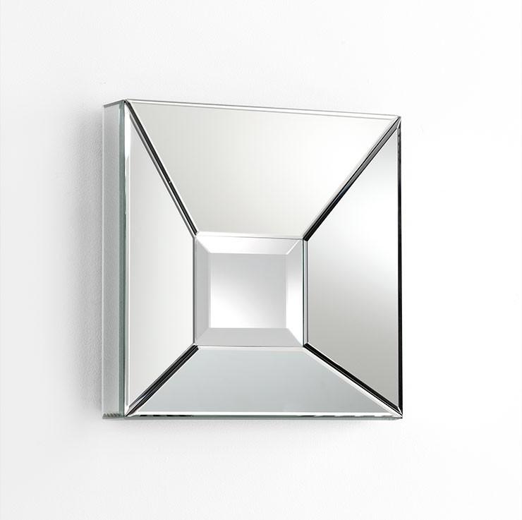 Pentallica Square Mirror Wood // Mirrored Glass Clear