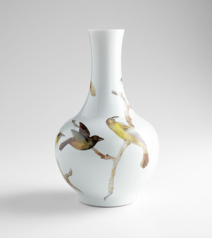 Large Aviary Vase Ceramic White Accessory Item At Hom