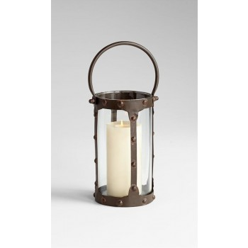 Sm. Borin Candleholder Iron // Glass Rustic