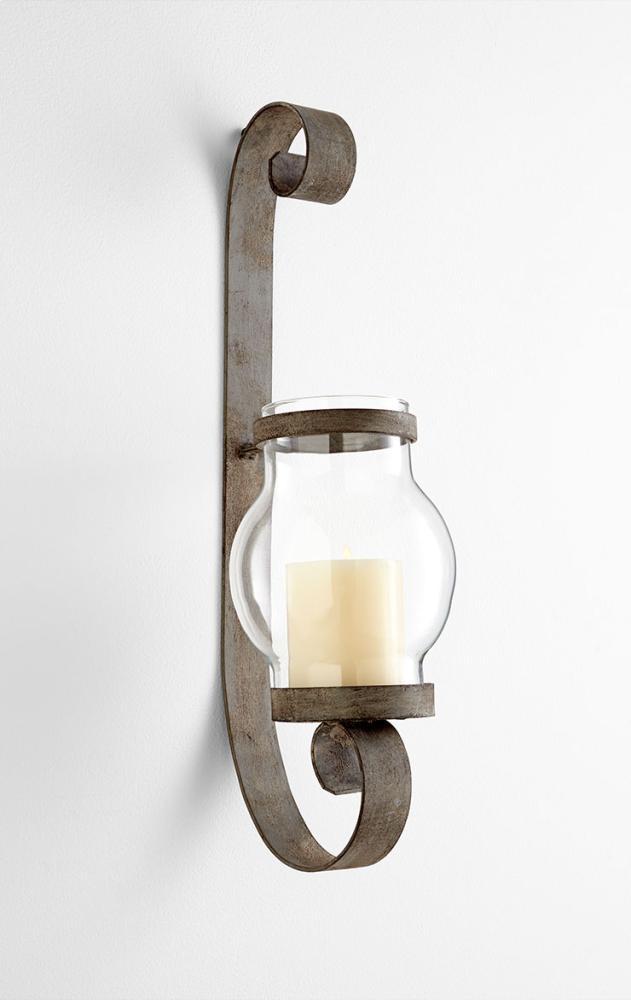Giralda Candleholders Iron // Glass Oyster Silver