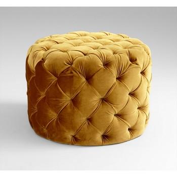Miss Muffet Ottoman Wood // Foam Gold