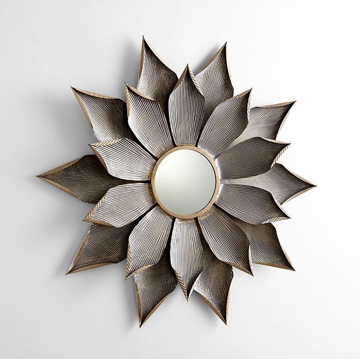 Small Blossom Mirror Iron // Mirrored Glass Graphite