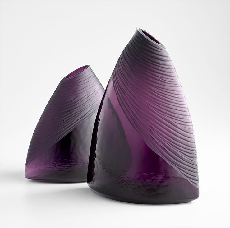 Large Mount Amethyst Vase Purple Glass Purple Accessory Item At Hom