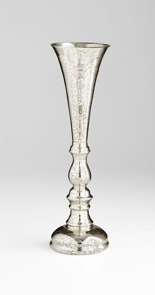 Medium Shimer Vase Silver Mercury Glass Silver Mercury Accessory