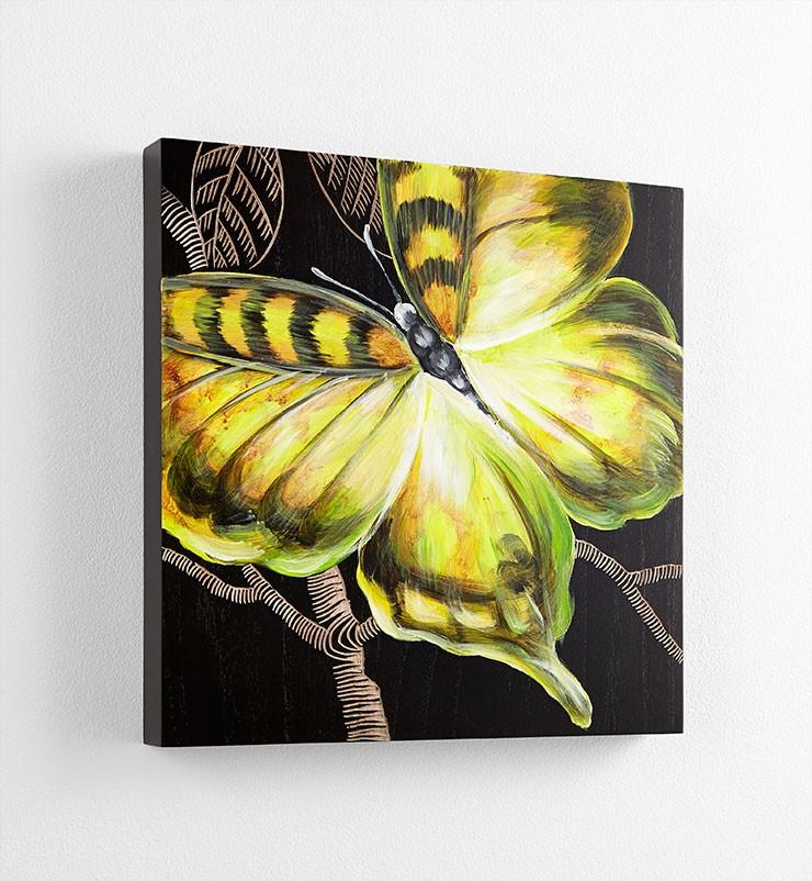 Monarch Wall Art Black / Green