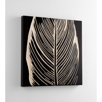 Pompano Wall Art Wood Black