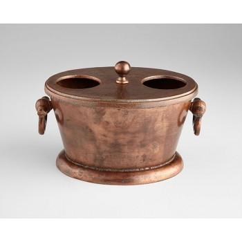 Caldero Wine Holder Old Vintage Copper