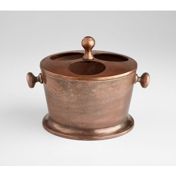 Robust Wine Holder Old Vintage Copper