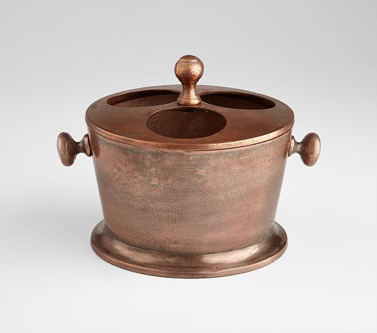 Robust Wine Holder Old Vintage Copper