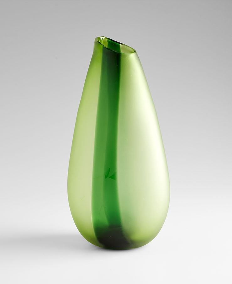 Large Adisa Vase Green Glass Green Accessory Item At Hom