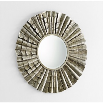 Farley Mirror Iron // Wood // Mirrored Glass Silver