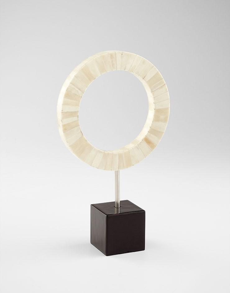 Medium Olympian Sculpture Stainless Steel // Bone // Mdf Bone and Black
