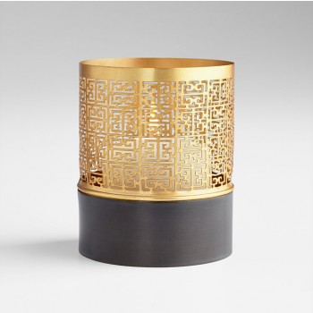 Sm A-Mazing Candleholder Iron Copper and Gold