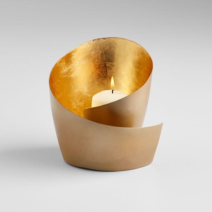 Mars Candleholder Iron Brass