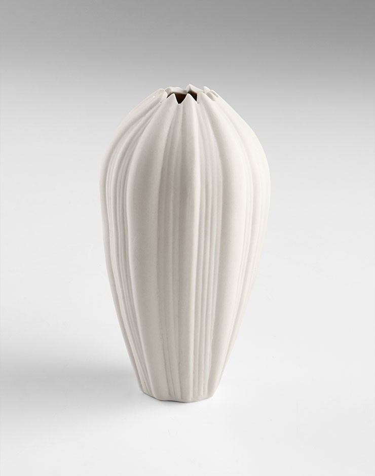 Small Spirit Stem Vase Ceramic White Accessory Item At Hom