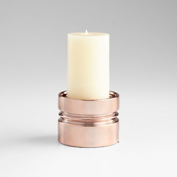 Sm Sanguine Candleholder Ceramic Copper
