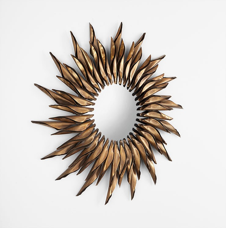 Sunshiney Day Mirror Iron // Wood // Mirrored Glass Bronze