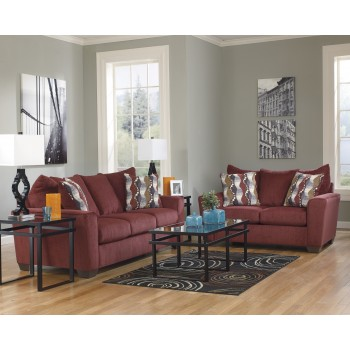Brogain - Burgundy Living Room Set