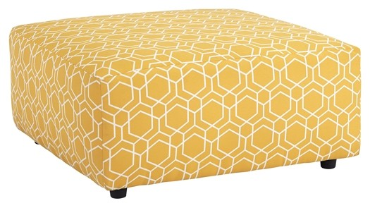 Ayanna Nuvella - Gray - Oversized Accent Ottoman