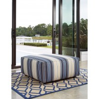 Ayanna Nuvella - Blue - Oversized Accent Ottoman