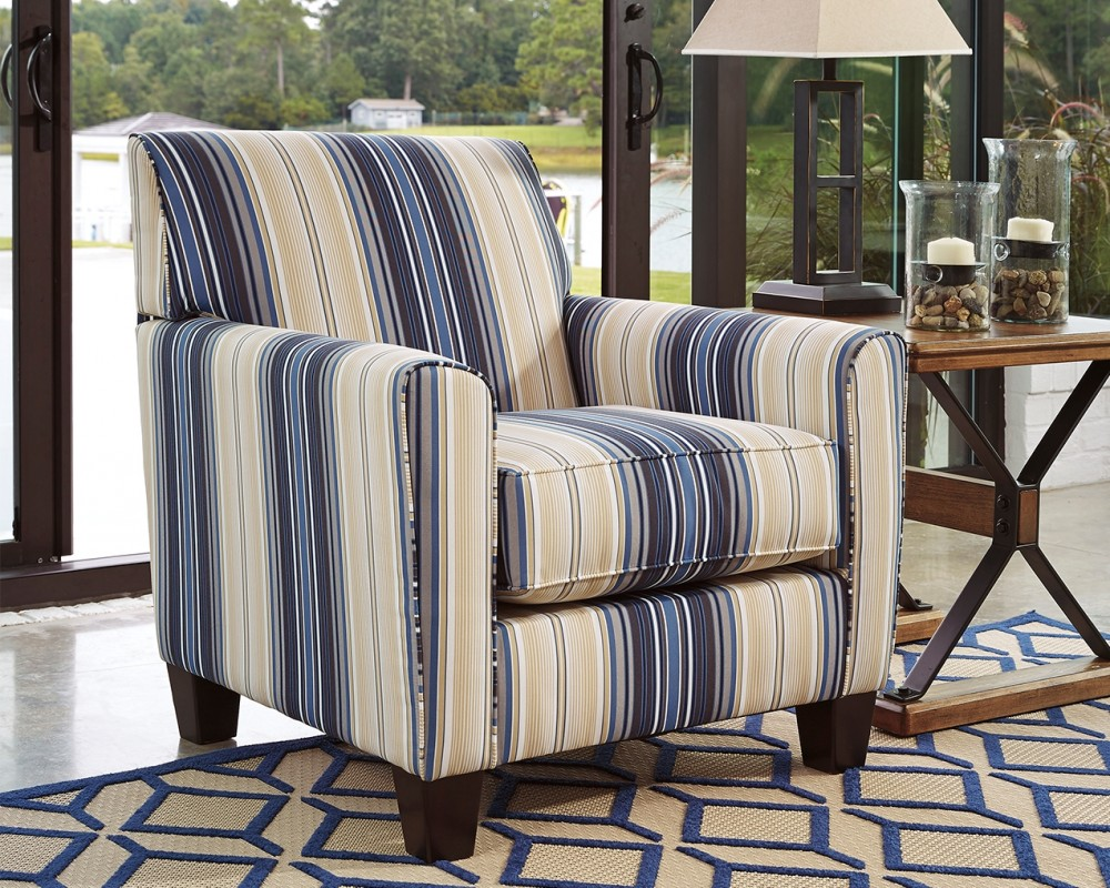 Ayanna Nuvella Blue Accent Chair 9470321 Chairs American