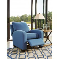 Ayanna Nuvella - Blue - Low Leg Recliner