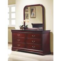 Louis Philip 6 Drawer Dresser - Cherry