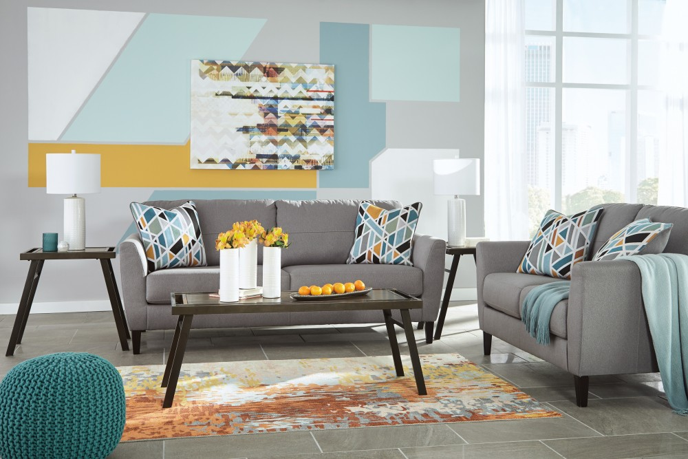 Pelsor   Gray   Sofa U0026 Loveseat