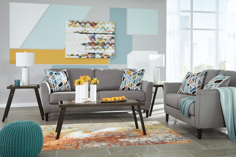 Pelsor - Gray - Sofa & Loveseat