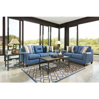 Forsan Nuvella - Blue - Sofa & Loveseat