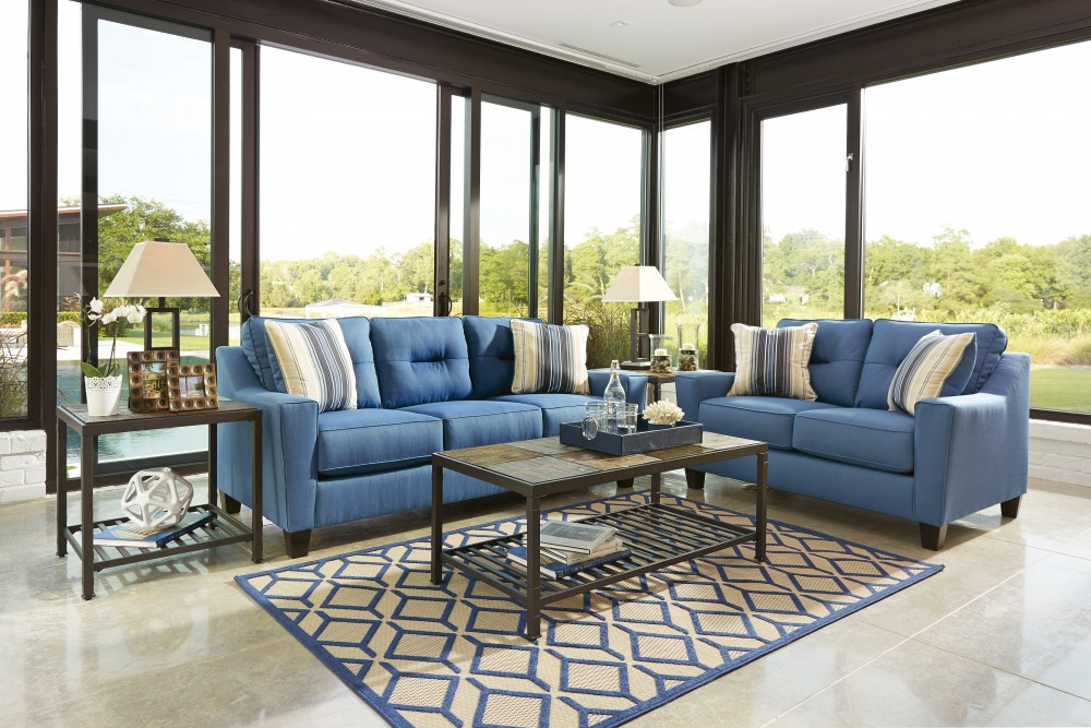 Forsan Nuvella   Blue   Sofa U0026 Loveseat