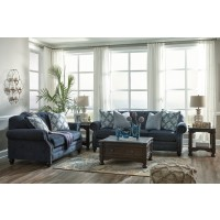 LaVernia - Navy - Sofa & Loveseat