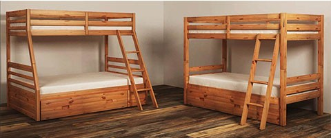 Hallytown Light Brown Ladder And Bunk Bed Rails B324 58r Bed