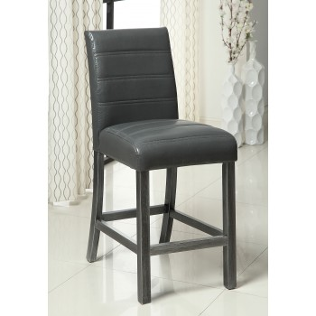 Gray Finish Counter Height Chair